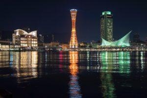 a7IIにSEL1635Zで撮った神戸ポートタワーの写真。