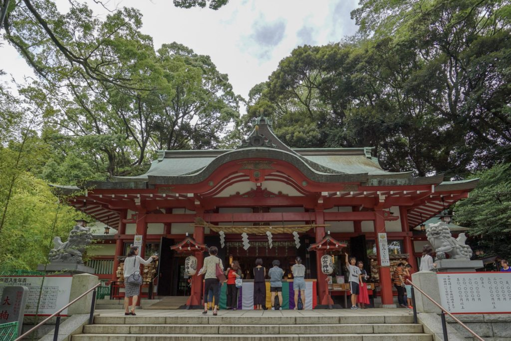 來宮神社の本殿。