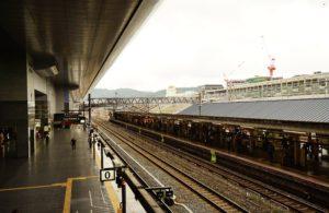 SONY a7II ホワイトバランス 日陰の設定で京都駅を撮影