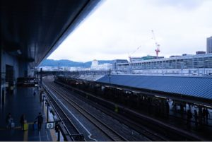 SONY a7II ホワイトバランス 電球の設定で京都駅を撮影