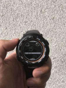 SUUNTO VECTORの時計合わせの方法