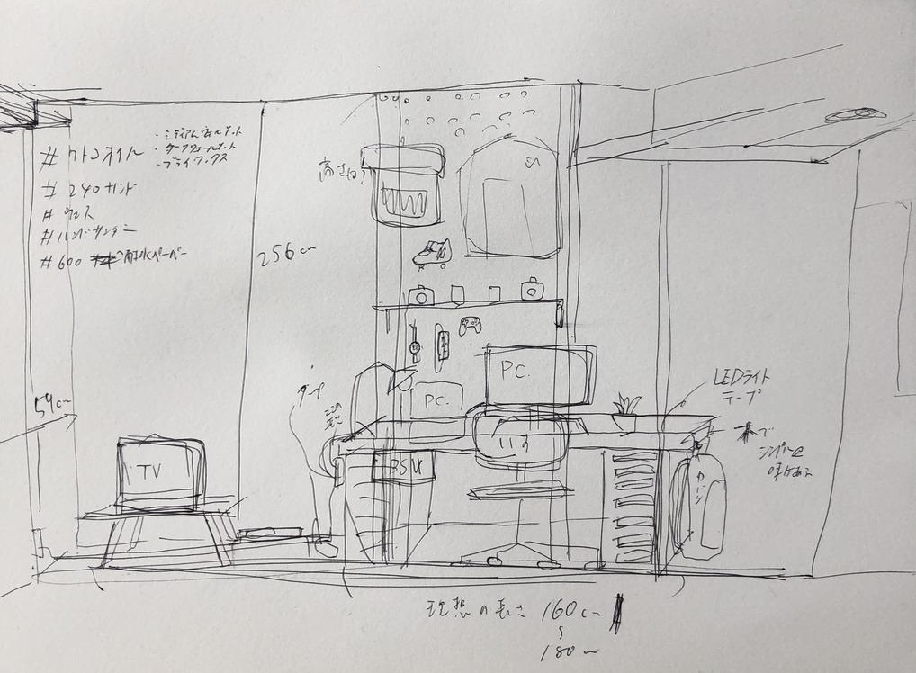 机のDIYのイメージ図