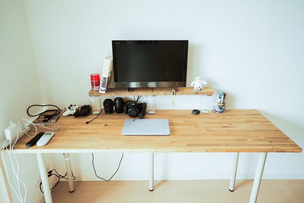 机のDIYが完成した写真