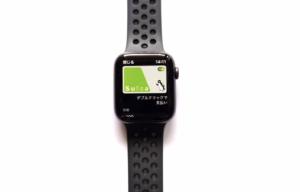 AppleWatch Series4(GPSモデル)でSuicaを表示している画像