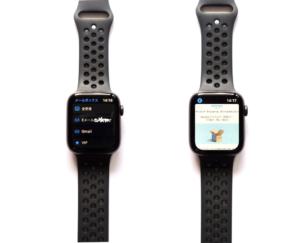 AppleWatch Series4(GPSモデル)でメールを確認している画像