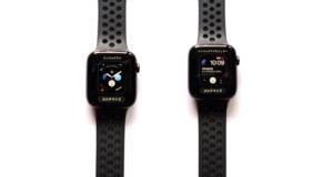 AppleWatch Series4(GPSモデル)で時計盤を自分で選んでいる画像
