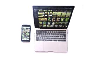 MacBook Pro 13.3インチ(2018Touch Bar、A 1989)とiPhoneの写真はiCloudで共有されている