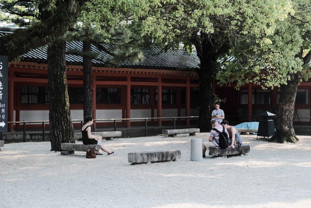 富士フィルム(FUJIFILM)のXT-30で撮影した平安神宮の境内の写真