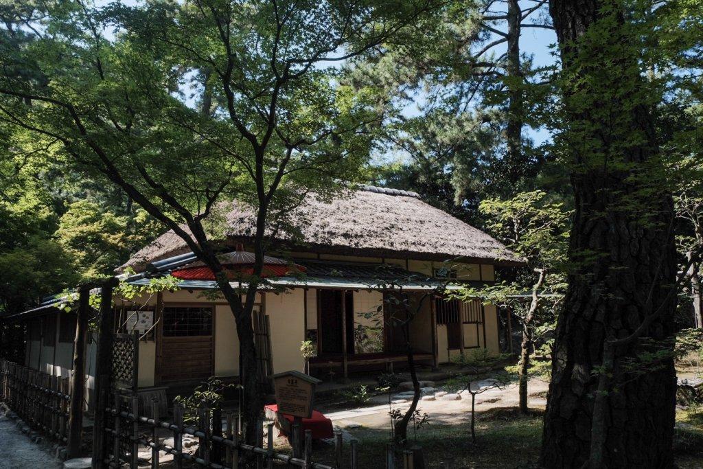 香川県高松市の栗林公園にある日暮亭の写真