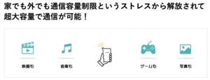 クラウドWi-Fi東京の通信容量制限フリーの説明の画像