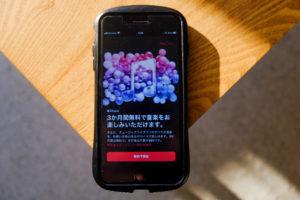 iPhone8PlusでAppleMusicを開こうとしている画像