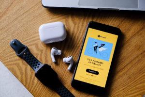 SpotifyとAirPods Pro(エアーポッズプロ)の写真