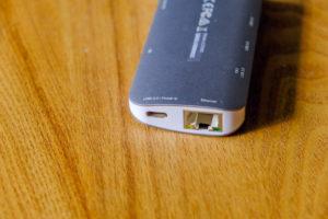 JCD383 USB TYPE-C 8IN1 マルチアダプタのUSB Type-Cポートの画像
