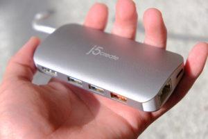 JCD383 USB TYPE-C 8IN1 マルチアダプタの画像