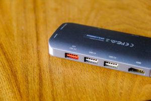 JCD383 USB TYPE-C 8IN1 マルチアダプタのUSB Type-Aポートの画像