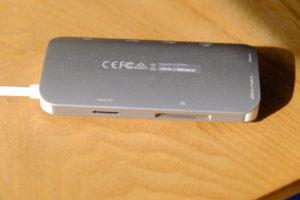 JCD383 USB TYPE-C 8IN1 マルチアダプタのSDカードリーダー部分の画像