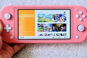 Nintendo Switch Lite コーラルでみるニンテンドーeショップの画像