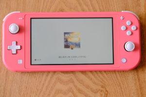 Nintendo Switch Lite コーラルの本体の画像