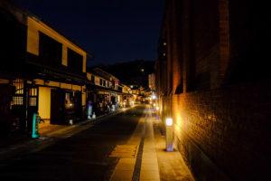 X-T30で撮影した岡山美観地区の夜景写真