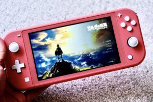 Nintendo Switch Lite コーラルでゼルダの伝説をプレイする