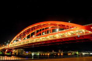 X-T30で撮影した神戸大橋の夜景写真