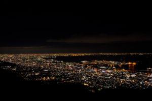 FUJIFILMのX-T30で撮影した神戸の摩耶山の掬星台の夜景