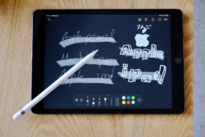 iPad 第7世代にApple Pencil第1世代で文字を書いた画像
